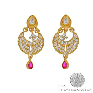 Sri Jagdamba Pearls Hellacious 22kt Gold Earrings(code Er-2329)