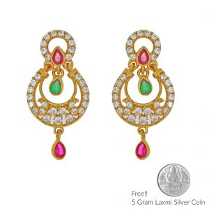 Sri Jagdamba Pearls Fantasy 22kt Gold Earrings(code Er-2334)
