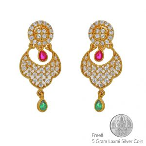 Sri Jagdamba Pearls Memorable 22kt Gold Earings(code Er-2335)