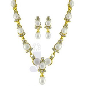 Jpearls White Beauty Pearl Set
