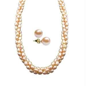 Jpearls New Rolled Pearl Necklace