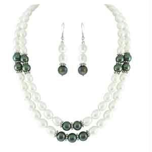Jpearls New Dual Black And White Prearl Set