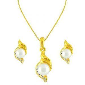 Semi Precious Jewellery Sets - Jpearls Vidula Cz Pendant Set
