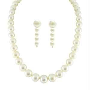 Jpearls New Single Line Classic Pearls Necklace