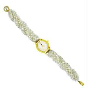 Jpearls Twisted Rice Pearl Watch