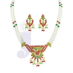 Jpearls Women's Clothing - jpearls 2 string ruby & emerald pearl necklace