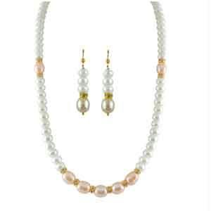kiara,jagdamba,cloe,bagforever,avsar,surat tex,surat diamonds Pearl Necklaces - JPEARLS SEVEN PEACH PEARL NECKLACE