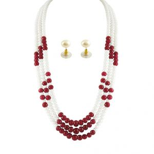 Pearl Necklaces - Jpearls Mayur Pearl Necklace Set  - JDEC-0334