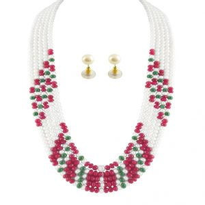 Jpearls Rich Pearl Necklace Set