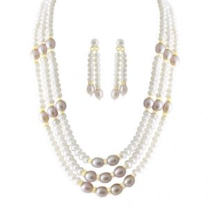 Jpearls Day Dream 3 Line Pearl Set