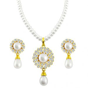 lime,surat tex,soie,jagdamba,sangini,triveni,oviya,bikaw Pearl Jewellery Sets - ROYAL PEARL SET