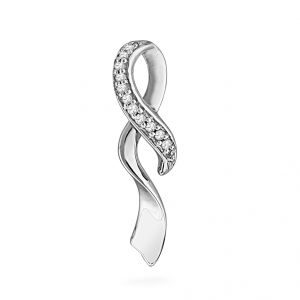 Jpearls Curved Diamond Pendant