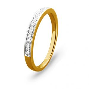 Jpearls Royal Gold Diamond Finger Ring Standard Indian Size- 14
