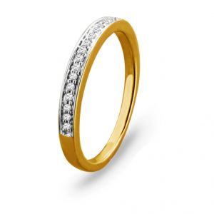 Jpearls Royal Gold Diamond Finger Ring