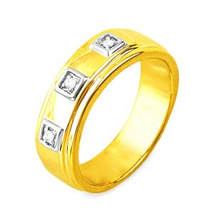 Jpearls Designer Diamond Finger Ring For Men