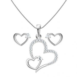 Sri Jagdamba Pearls Heart In Heart Pendant Set -jp-jan 764_c