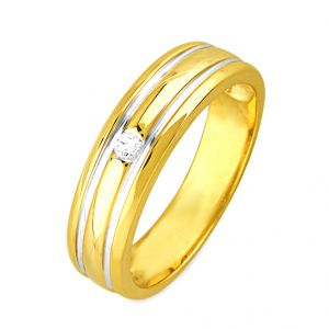 Jpearls Simple Diamond Ring Standard Indian Size- 14