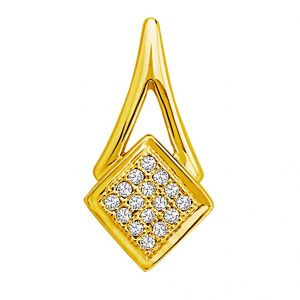 Jpearls Cone Shaped Diamond Pendent