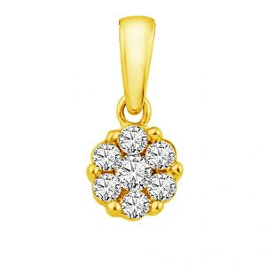 Jpearls Antique Diamond Pendant