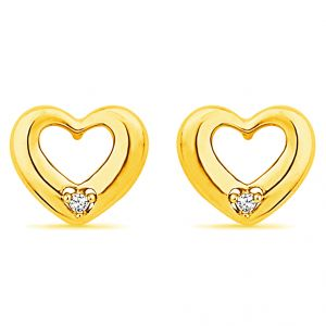 Jpearls Heart Shape Real Daimond Earrings