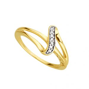 Jpearls Innovation Diamond Finger Ring Indian Size- 14