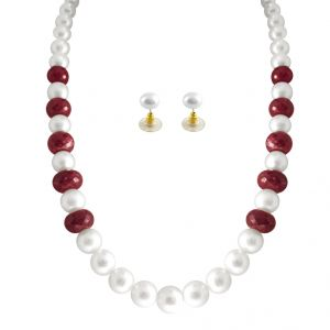 Jpearls Ruby Pearl Necklace