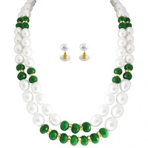 Jpearls Verduous Pearl Necklace Set