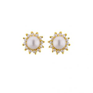 triveni,tng,jagdamba,see more,kalazone,flora,gili Earrings (Imititation) - Sri Jagdamba Pearls Speculate Studs  ( JPAPL-16-046 )
