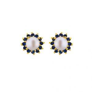triveni,platinum,jagdamba,flora,avsar Earrings (Imititation) - Sri Jagdamba Pearls Wonder Studs  ( JPAPL-16-047 )