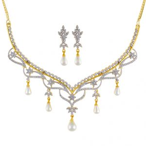Dazzling Cz Necklace Set Code-jpapl-17-031