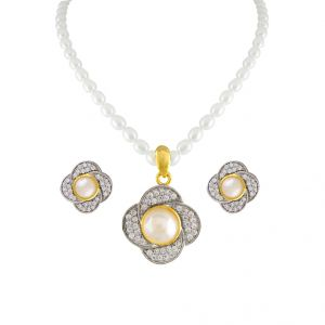 Pearl pendants buy pearl pendant online rediff shopping marvelous pearl pendant set code jpapl 17 061 aloadofball Gallery