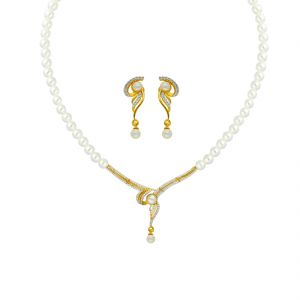 Jagdamba,Avsar,Ivy Women's Clothing - PEARLS MANGALSUTRA NECKLACE BY SRI JAGDAMBA PEARLS (JPAPL-18-019 )