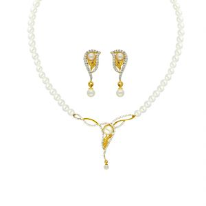Jagdamba,Avsar,Valentine,Bagforever,Sukkhi Women's Clothing - FASHION MANGALSUTRA NECKLACE BY SRI JAGDAMBA PEARLS (JPAPL-18-020 )