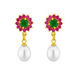 Kiara,La Intimo,Cloe,Jagdamba,Triveni Women's Clothing - Sri Jagdamba Pearls Alluring Pearl Earrings ( JPAPR-15-017 )