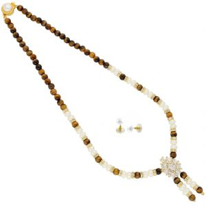 Jagdamba,Surat Diamonds,Valentine,Jharjhar,Asmi,Tng,Cloe,Flora Women's Clothing - Love Bonding Pearl Necklace ( JPAUG-18-05 )