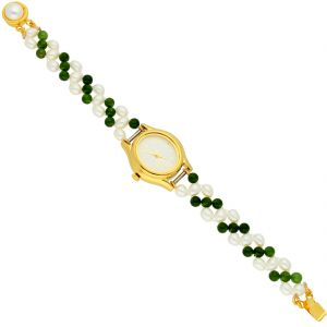Jagdamba Watches - Peaceful Pearl Wrist Watch ( JPAUG-18-31 )