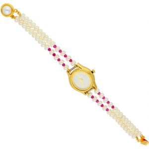 Women's Watches   Round Dial   Analog - Lovable Pearl Wrist Watch ( JPAUG-18-33 )