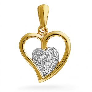 Triveni,Tng,Jagdamba,Jharjhar Diamond Jewellery - Jpearls heart in heart diamond pendent