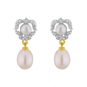 Rcpc,Jpearls,Surat Diamonds,Flora,Kiara,Jagdamba Pearl Jewellery - Jpearls Marlyn CZPearl Earrings