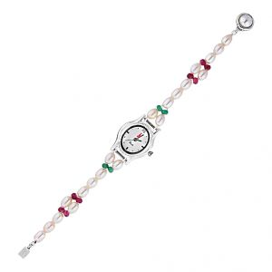 Jagdamba Watches for Women   Round Dial   Analog (Misc) - Jpearls Fairy Pearl Watch