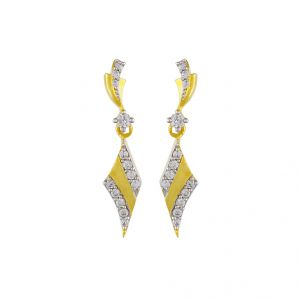 Triveni,Tng,Jagdamba,Mahi,Ag,Sangini,Surat Diamonds Pearl Earrings - SRI JAGDAMBA PEARLS DESIGNER EARRING (JPDEC-17-109)