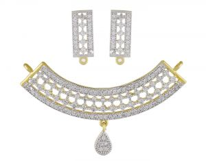 jagdamba Fashion, Imitation Jewellery - Sri Jagdamba Pearls Grace Pearl Pendant Set ( JPDEC-17-138_2018 )