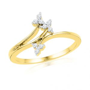 Jpearls Fandangle Diamond Finger Ring