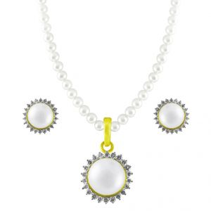 Jpearls Eye-filling Diamond Pearl Pendant Set