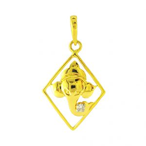 Jpearls Vinayak Diamond Pendent- For Mens