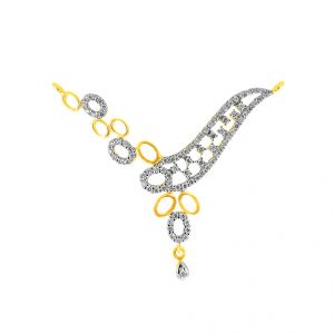 Jagdamba,Clovia Women's Clothing - Jpearls Supertunia Diamond Pendant