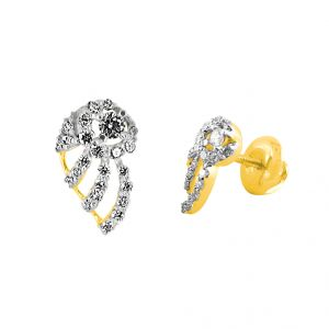 Jagdamba,Clovia,Sukkhi,Estoss Women's Clothing - JPEARLS DAISY DIAMOND EARRING