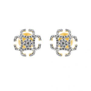 Jagdamba,Clovia,Sukkhi,Estoss Women's Clothing - JPEARLS MARNIE DIAMOND EARRING