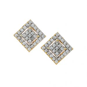 Sri Jagdamba Pearls Square Shape Cz Earrings-jpjan-17-027