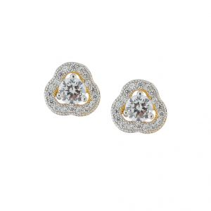 Sri Jagdamba Pearls Flower Cz Earring-jpjan-17-028